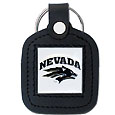 Square Leatherette Key Chain