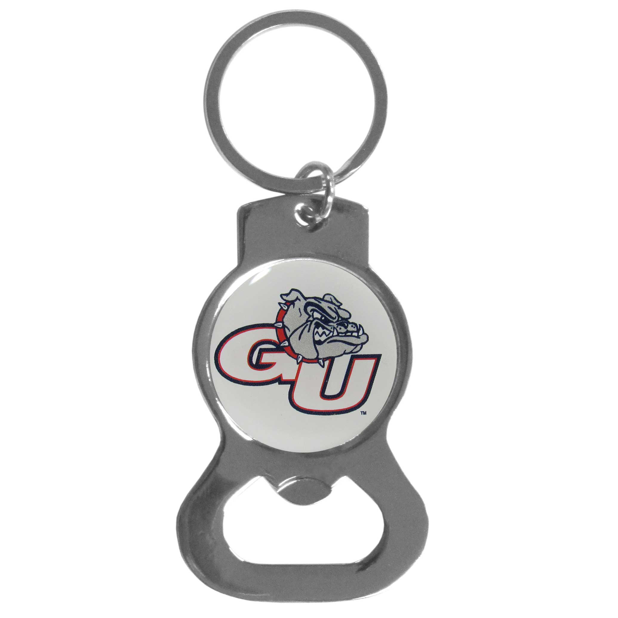 Gonzaga Bulldogs Bottle Opener Key Chain - Hate searching for a bottle opener, get our Gonzaga Bulldogs bottle opener key chain and never have to search again! The high polish key chain features a bright team emblem.