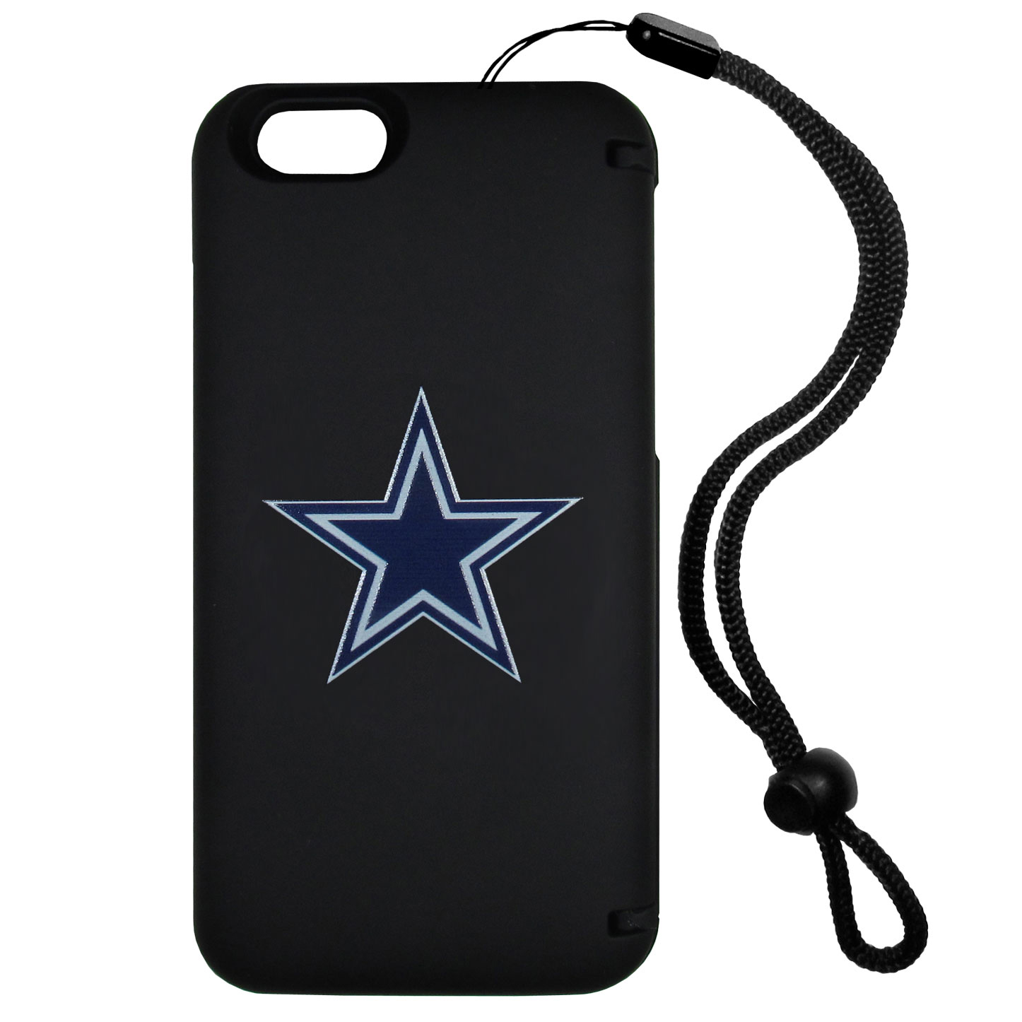 Dallas Cowboys iPhone 6 Plus Everything Case - This case really does have everything but the kitchen sink! The hidden compartment lets you keep your cards, money and tickets to the big game safe and secure and has a compact mirror so you can make sure your game face is ready to go. It also comes with a kickstand to make chatting and watching videos a breeze. The wrist strap allows you to travel with ease with your everything case. If that's not enough, it also comes with the Dallas Cowboys logo printed in expert detail on the front.