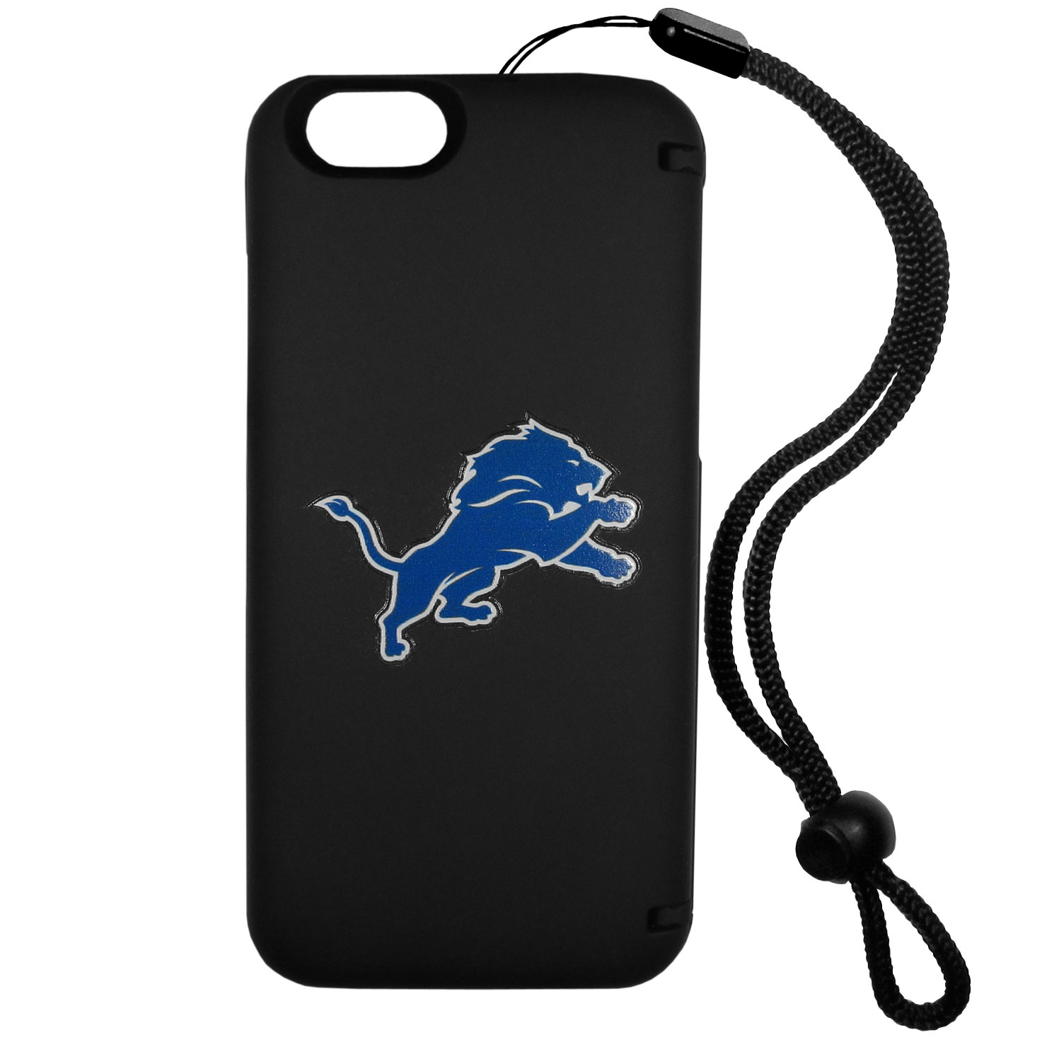 Detroit Lions iPhone 6 Plus Everything Case - This case really does have everything but the kitchen sink! The hidden compartment lets you keep your cards, money and tickets to the big game safe and secure and has a compact mirror so you can make sure your game face is ready to go. It also comes with a kickstand to make chatting and watching videos a breeze. The wrist strap allows you to travel with ease with your everything case. If that's not enough, it also comes with the Detroit Lions logo printed in expert detail on the front.
