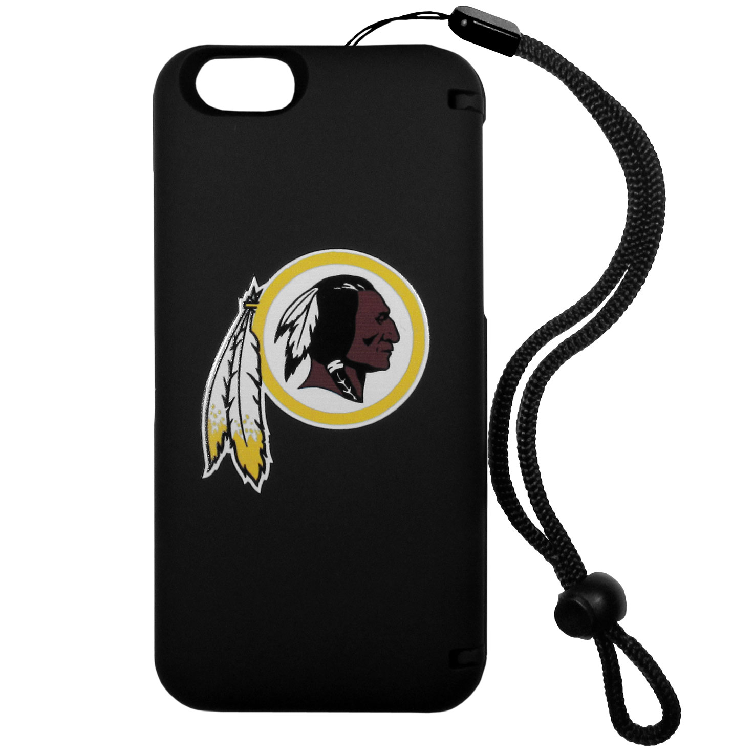 Washington Redskins iPhone 6 Plus Everything Case - This case really does have everything but the kitchen sink! The hidden compartment lets you keep your cards, money and tickets to the big game safe and secure and has a compact mirror so you can make sure your game face is ready to go. It also comes with a kickstand to make chatting and watching videos a breeze. The wrist strap allows you to travel with ease with your everything case. If that's not enough, it also comes with the Washington Redskins logo printed in expert detail on the front.