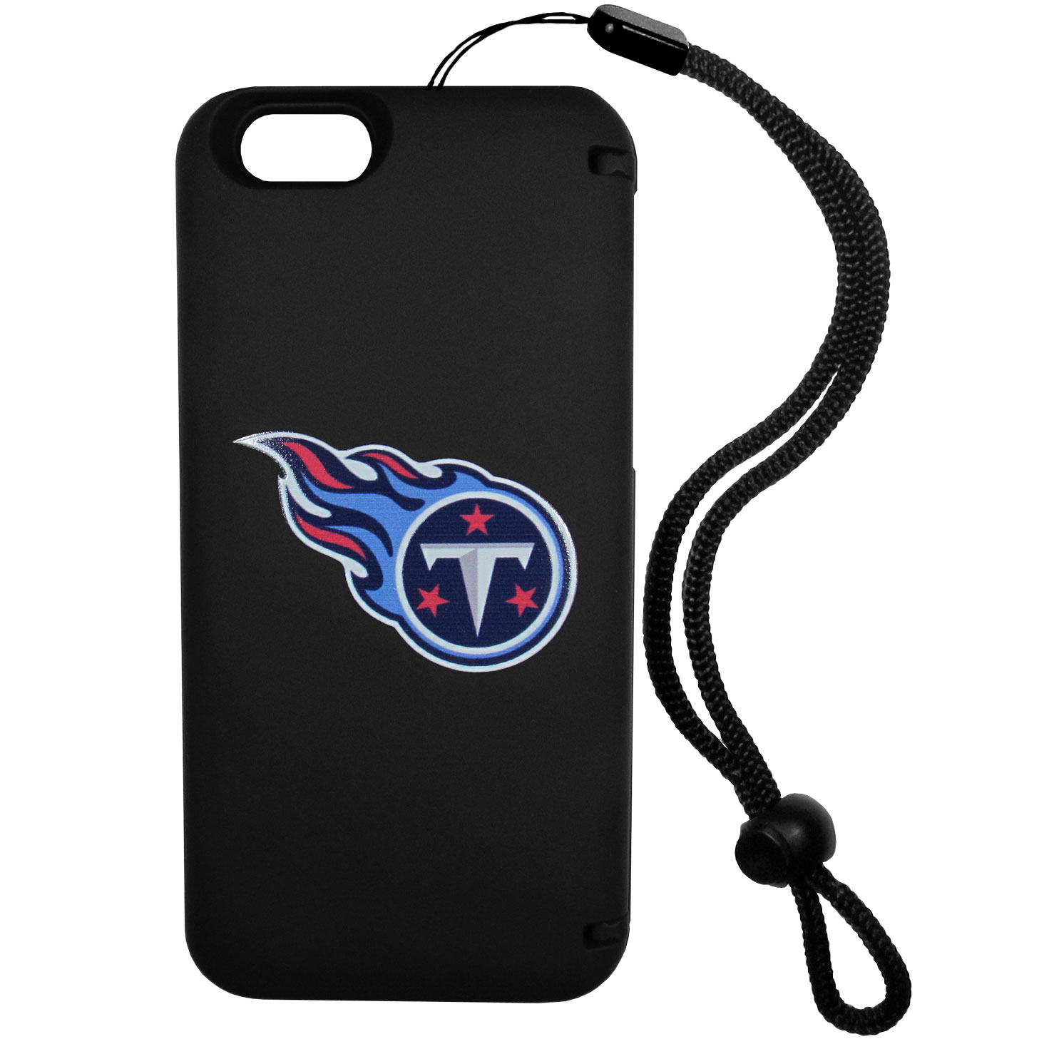 Tennessee Titans iPhone 6 Plus Everything Case - This case really does have everything but the kitchen sink! The hidden compartment lets you keep your cards, money and tickets to the big game safe and secure and has a compact mirror so you can make sure your game face is ready to go. It also comes with a kickstand to make chatting and watching videos a breeze. The wrist strap allows you to travel with ease with your everything case. If that's not enough, it also comes with the Tennessee Titans logo printed in expert detail on the front.