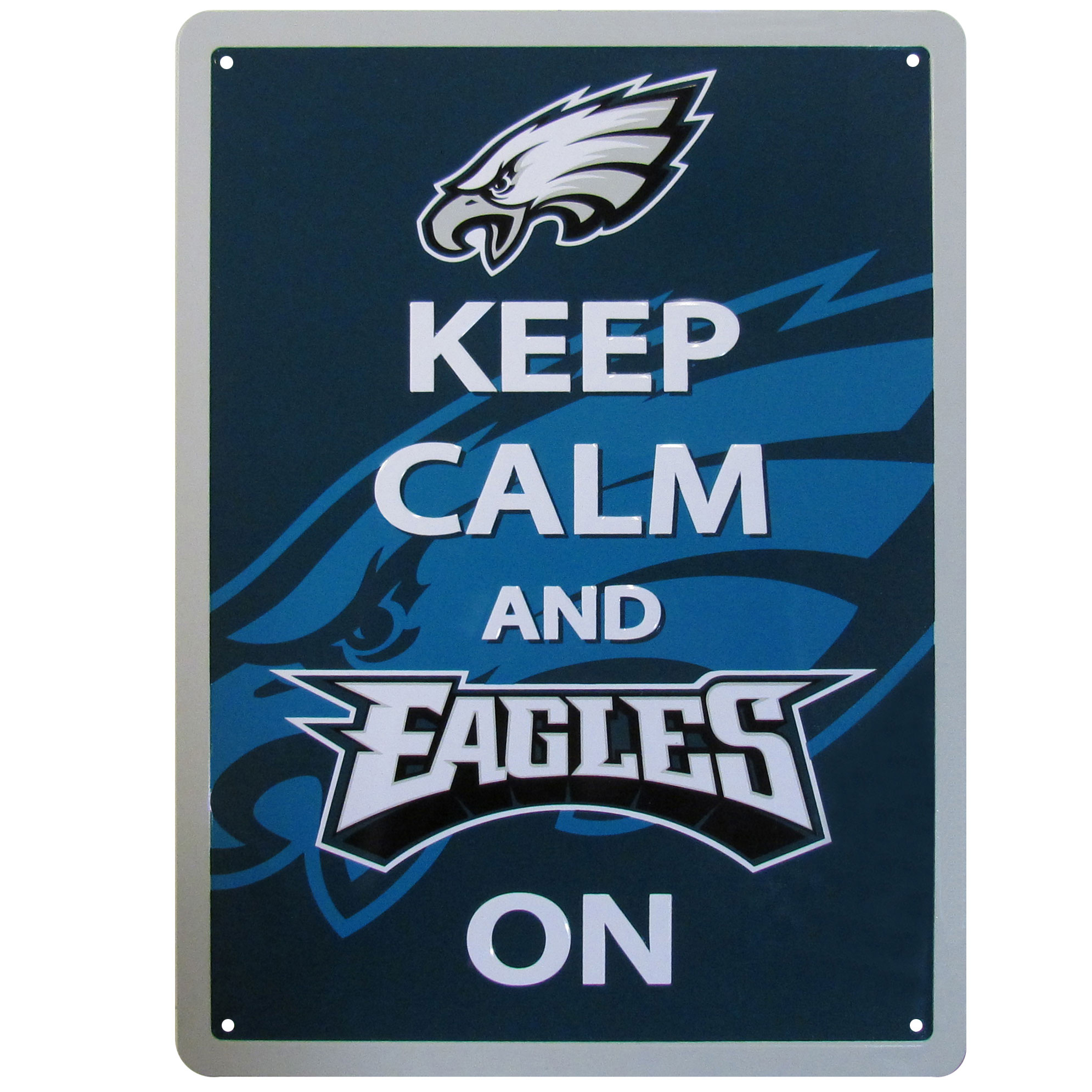 Philadelphia Eagles Keep Calm Sign - One of the most enduring motivational signs of all time is now available with your beloved Philadelphia Eagles logo. The 9 inch by 12 inch sign is a must have for any fan cave!