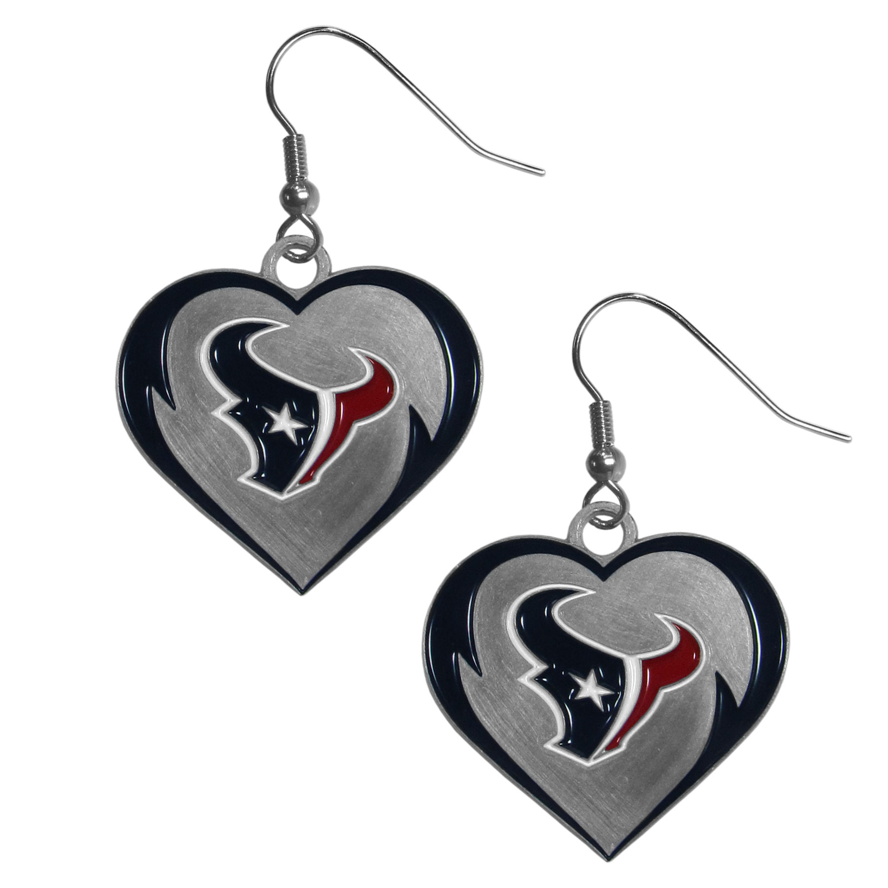 Siskiyou NHL Arizona Coyotes Chrome Dangle Earrings