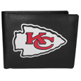 NFL Leather Bi-fold Wallet, Large Logo