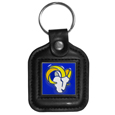 NFL Square Leatherette Key Chain
