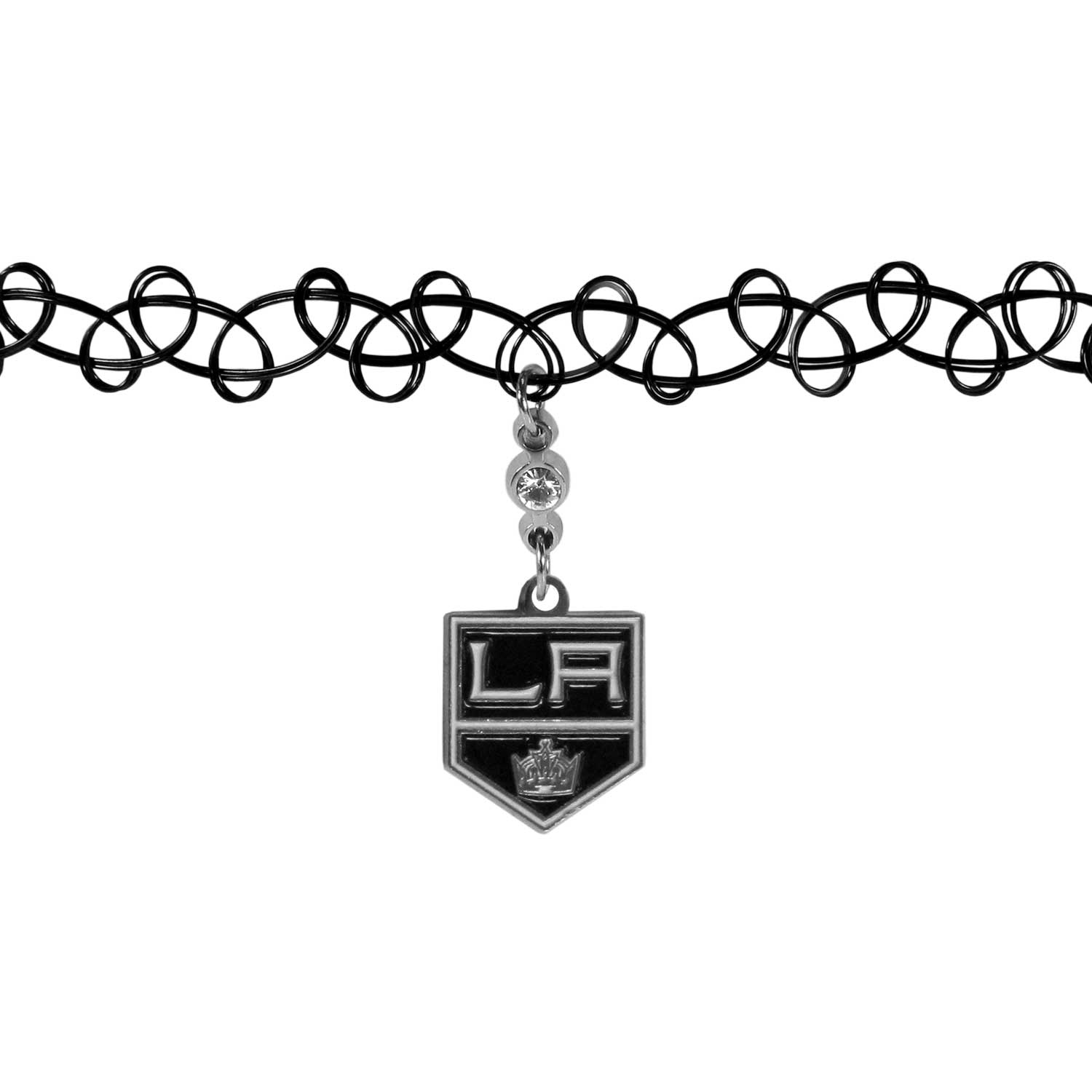 Los Angeles Kings® Knotted Choker - This retro, knotted choker is a cool and unique piece of fan jewelry. The tattoo style choker features a high polish Los Angeles Kings® charm with rhinestone accents.