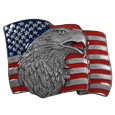 US Flag with Eagle Patriotic Lapel Pin