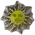 Sun Face Lapel Pin
