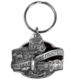 American Firefighter Metal Key Chain with Enameled Details