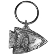 Arrowhead Indian Antiqued Keyring
