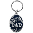 World's Greatest Dad Metal Key Chain