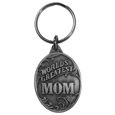 World's Greatest Mom Antiqued Metal Key Chain