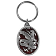 Live To Ride Motorcycle Metal Key Chain with Enameled Details