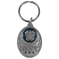 U.S. Navy Military Metal Key Chain with Enameled Details