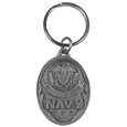 Navy Antiqued Keyring
