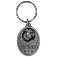 U.S. Marines Military Metal Key Chain with Enameled Details