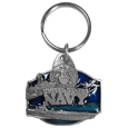 U. S. Navy Military Metal Key Chain with Enameled Details