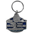 U. S. Coast Guard Metal Key Chain with Enameled Details