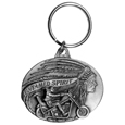 Untamed Spirit Antiqued Keyring