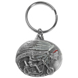 Untamed Spirit Motorcyle Metal Key Chain with Enameled Details