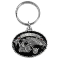 Born to be Free Motorcycle Metal Key Chain with Enameled Details