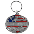 National Guard Metal Key Chain with Enameled Details