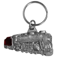 Locomotive Antiqued Keyring